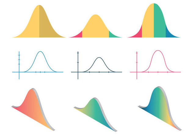Free Bell Curve Vector Illustration - Free vector #357487