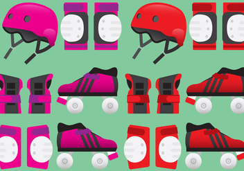 Roller Derby Equipment Vectors - бесплатный vector #357527