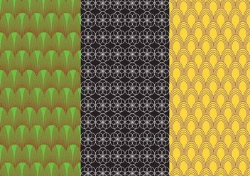 Set Background Bauhaus Pattern Vectors - vector gratuit #357567