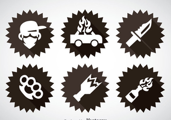 Gangster Element Icons Vector - Kostenloses vector #357607