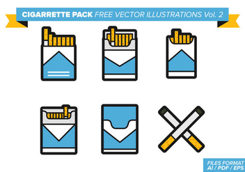 Cigarette Pack Free Vector Illustrations Vol. 2 - vector gratuit #357647