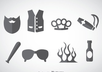 Hooligans Element Icons Vector - Free vector #357657