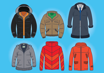 Winter Coat Vectors - vector #357707 gratis