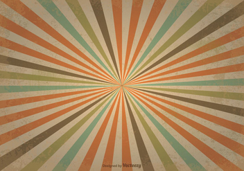 Old Retro Sunburst Background - Free vector #357757