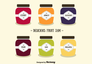 Fruit Jams Vector - vector gratuit #357787