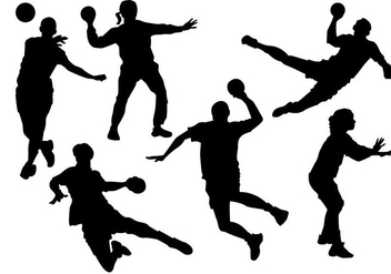 Free Handball Players Silhouette Vector - Free vector #357797