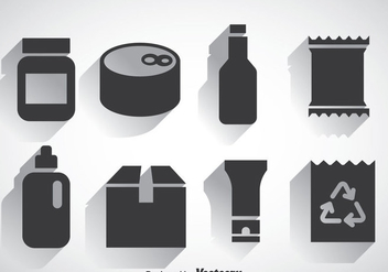 Package Set Icons Vectors - vector gratuit #357827