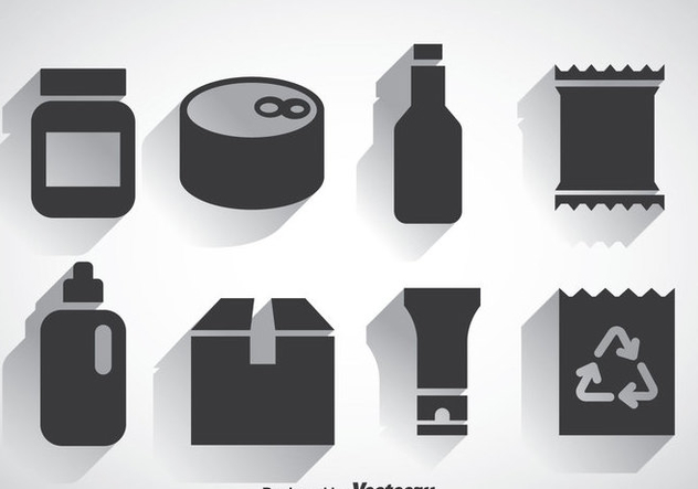 Package Set Icons Vectors - Kostenloses vector #357827