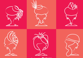 Ladies Hat Style Vector - vector gratuit #357917