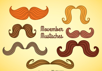 Movember Mustaches Collection Vector - Free vector #357927