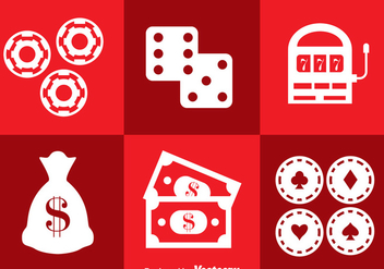 Casino Royal Icons Vector - бесплатный vector #357947