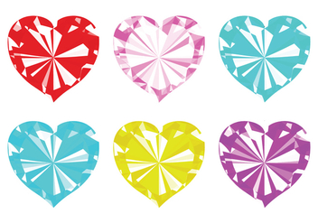 Vector Strass Hearts - vector #358107 gratis