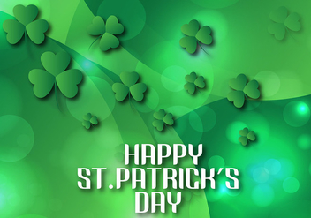Shining St Patrick's day background Vector illustration - Free vector #358157