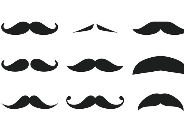 Moustache Collection - vector gratuit #358177