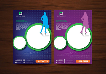 Vector Brochure Flyer design Layout template in A4 size - Kostenloses vector #358197