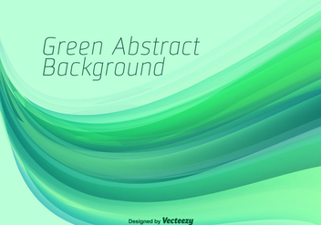 Green Abstract Vector Background - vector gratuit #358277