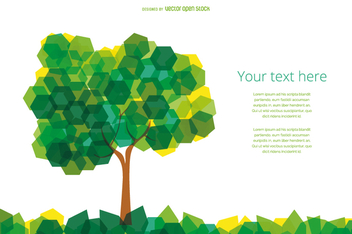Hexagons abstract tree - vector gratuit #358297