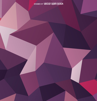 Polygonal 3D purple background - vector gratuit #358307