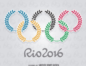 Olympics Rio 2016 - Olive rings - vector gratuit #358327