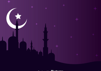 Arabian Night Landscape - Free vector #358337