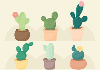 Vector Cacti Set - Free vector #358427