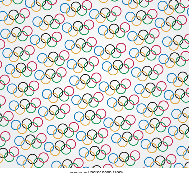 Olympic rings pattern - vector gratuit #358477