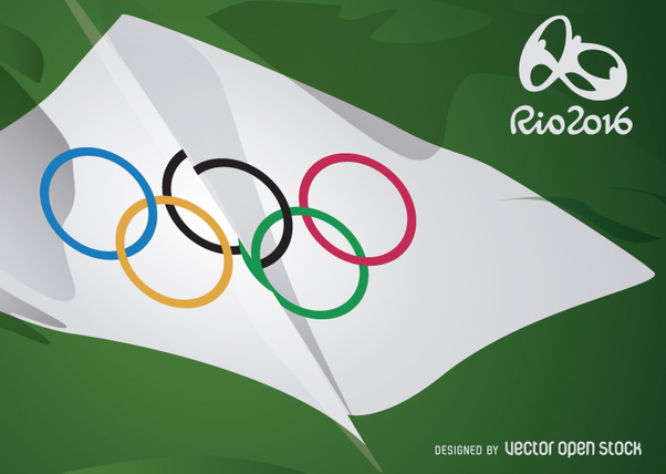 Rio 2016 - Olympic Rings flag - Free vector #358497