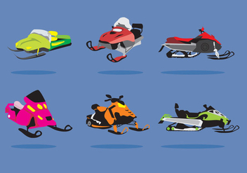 Snowmobile Ilustration Vector - бесплатный vector #358547