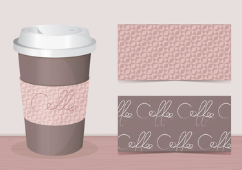 Coffee Sleeve Vector - vector #358637 gratis