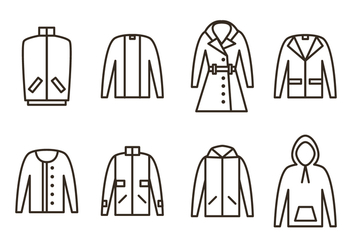 Winter Coat Vector Icons - бесплатный vector #358667