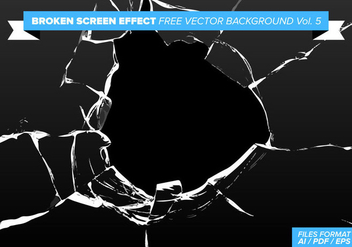 Broken Screen Effect Free Vector Background Vol. 5 - Kostenloses vector #358787