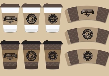 Coffee Sleeve Mock Up - vector gratuit #358827