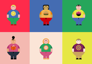 Free Overweight People Vectors - бесплатный vector #358887