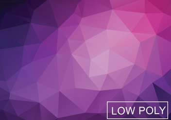 Low Polygonal Background Vector - Kostenloses vector #358897