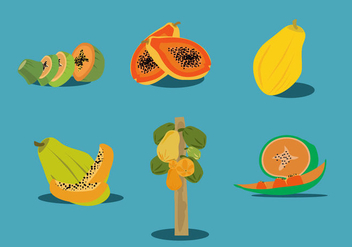 Fresh Papaya Vector - vector gratuit #358917