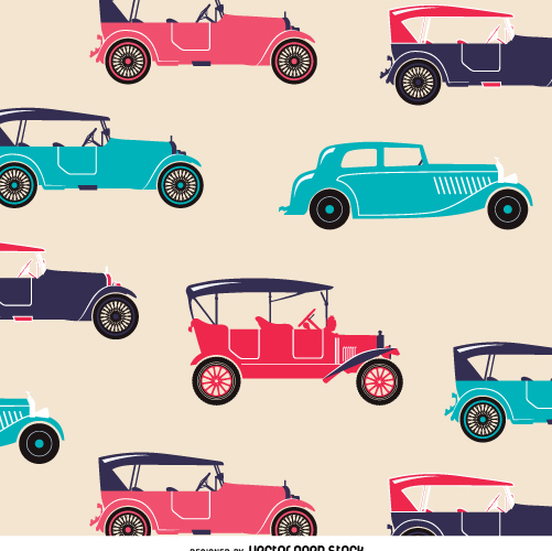 Colorful retro car texture - бесплатный vector #359067