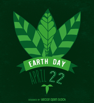 Earth Day design in green - vector gratuit #359097