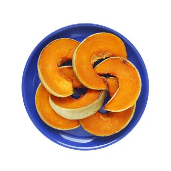 Pumpkin slices on plate - бесплатный image #359187