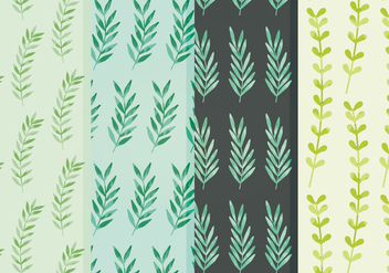 Vector Leaves Patterns - vector #359237 gratis