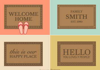 Free Vector Welcome Mat Designs - бесплатный vector #359267