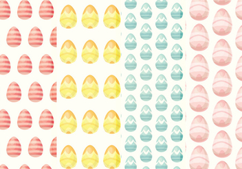 Vector Easter Eggs Patterns - бесплатный vector #359277