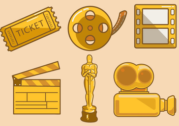 Cinematic Pictogram Vector - vector gratuit #359287