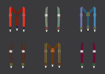 Free Suspenders Vector Illustration - бесплатный vector #359327