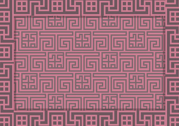 Greek Key Pattern Vector - vector gratuit #359347