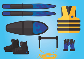 Water Skiing Vector - vector #359377 gratis