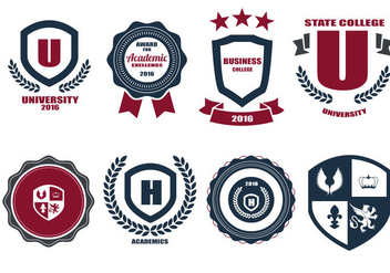 Free School Crests And Logo Vector - Free vector #359407