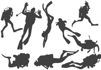 Diver Silhouette Vector - Free vector #359467
