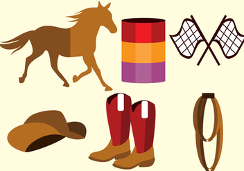 Barrel Racing Vector - Free vector #359587