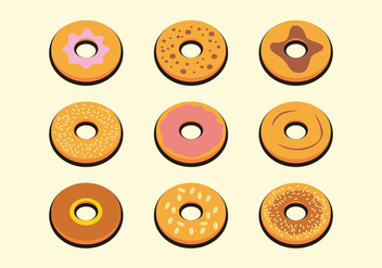 Yummy Bagel Vector - бесплатный vector #359637