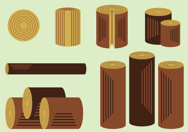 Free Wood Logs Vector Pack - Free vector #359787